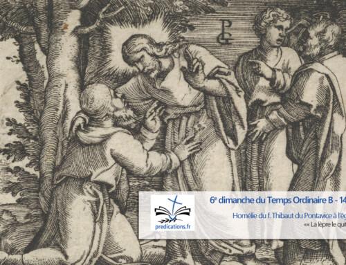 Homélie pour le 6e dimanche du Temps Ordinaire (B)